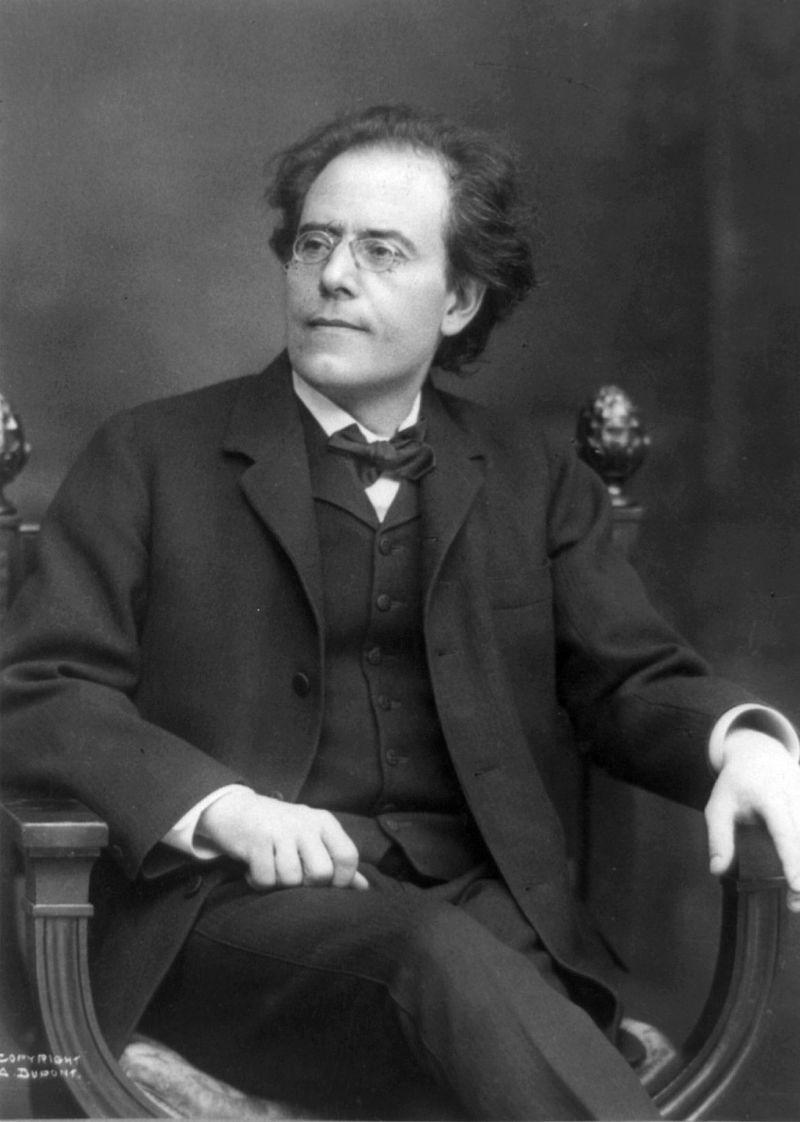 Gustav Mahler im Jahr 1909