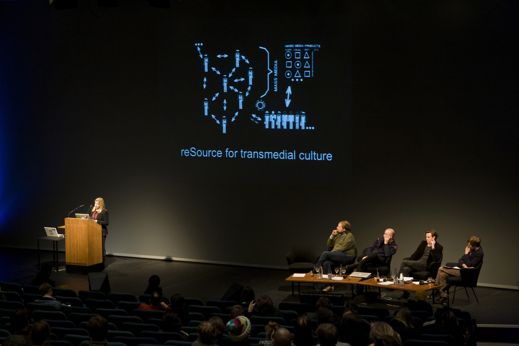 Launch of the reSource for transmedial culture, Photo: Genz Lindner / transmediale