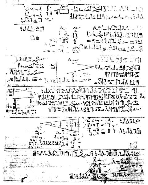 Auszug aus dem Papyrus Rhind