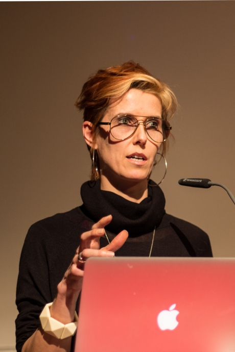 "Diann Bauer at ""On subversion and beyond: Reconsidering the politics of resistance and interference"", transmediale 2017."