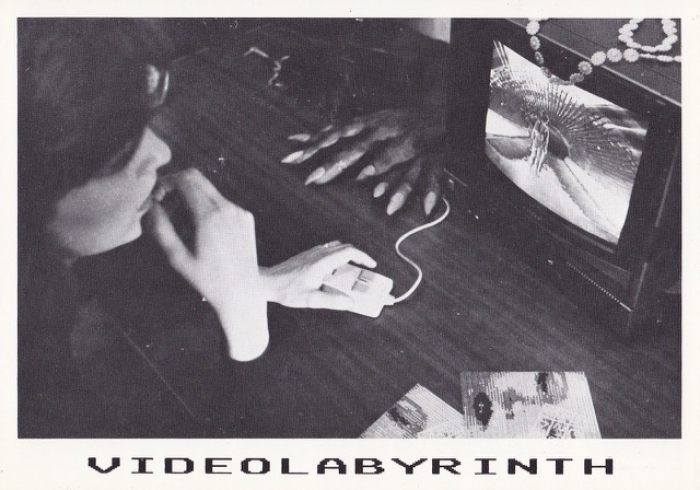 Postkarte VIDEOLABYRINTH 1988