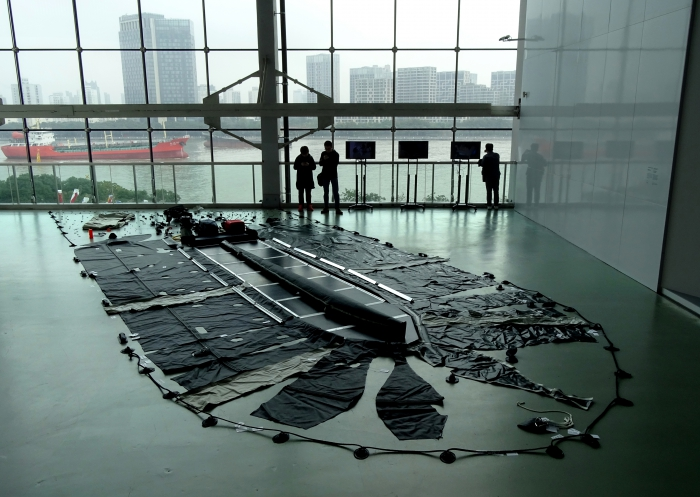 Plastic Raft of Lampedusa, Shanghai Biennale, YoHa, 2016