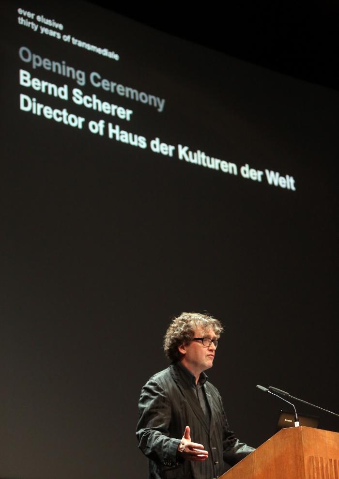 Bernd Scherer at the transmediale Opening Ceremony 2017