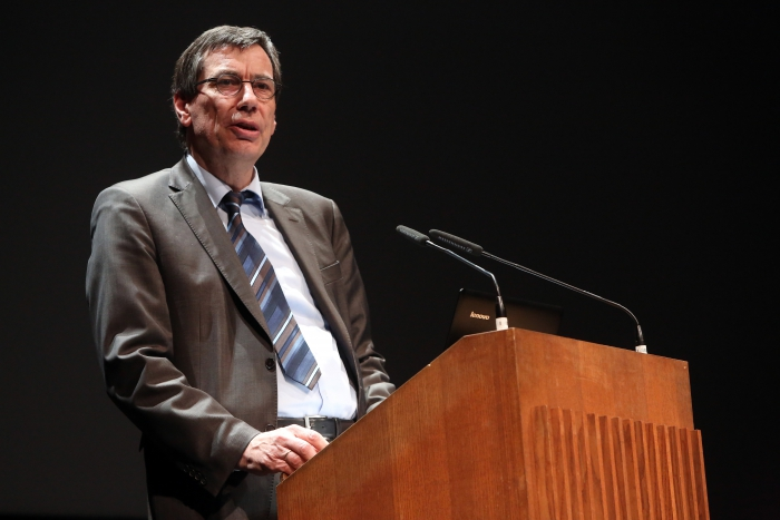 Günter Winands at the transmediale Opening Ceremony 2017