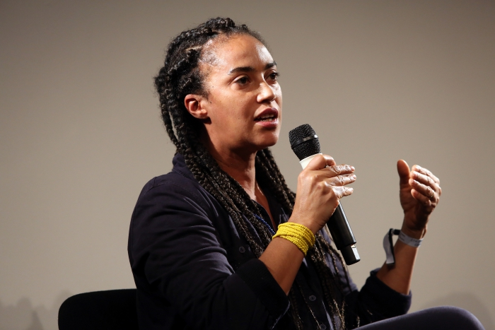 "Grada Kilomba at ""Middle Session: The Elemental Middle"", transmediale 2017 ever elusive."