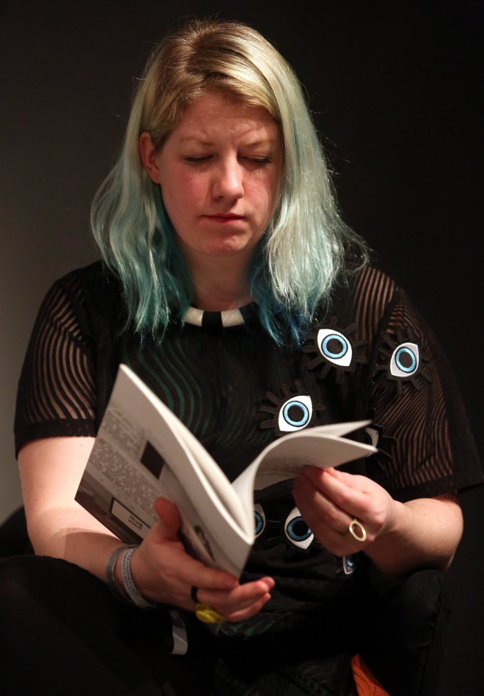 "Rosa Menkman at ""Machine Research – Infrastructures"", transmediale 2017"