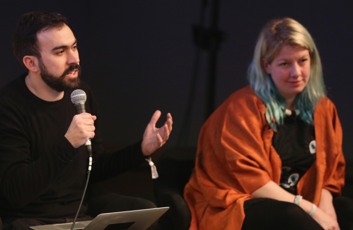 "Abelardo Gil-Fournier and Rosa Menkman at ""Machine Research – Infrastructures"", transmediale 2017"