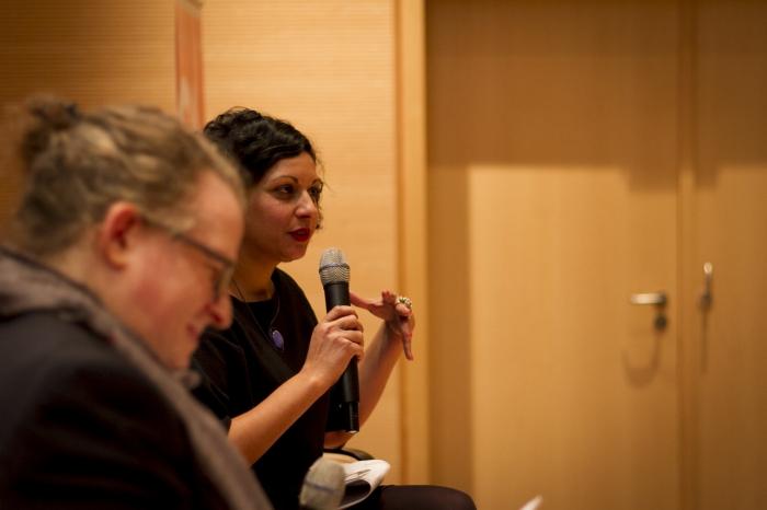 Sarah Sharma at the transmediale McLuhan Lecture 2017