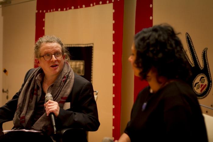 Baruch Gottlieb in conversation with Sara Sharma (right)