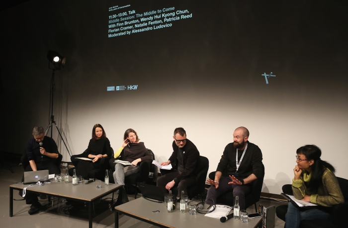 """Impression of """"Middle Session: The Middle to Come"""", transmediale 2017"""