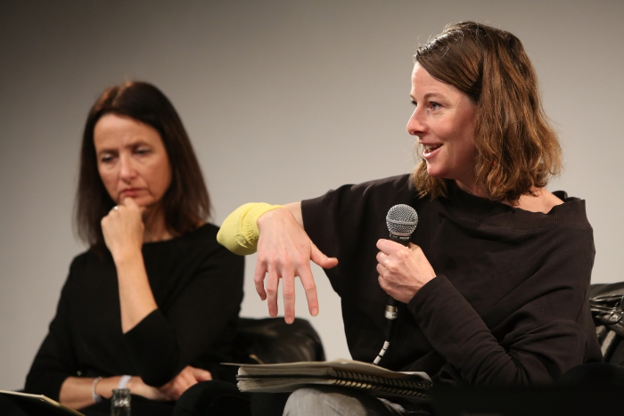 """Natalie Fento and Patricia Reed at """"Middle Session: The Middle to Come"""", transmediale 2017"""