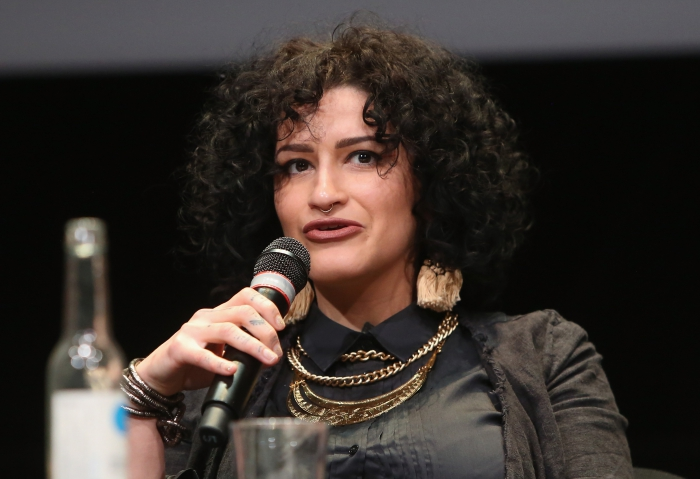 "Luize Prado at the panel ""Singularities"", transmediale 2017"