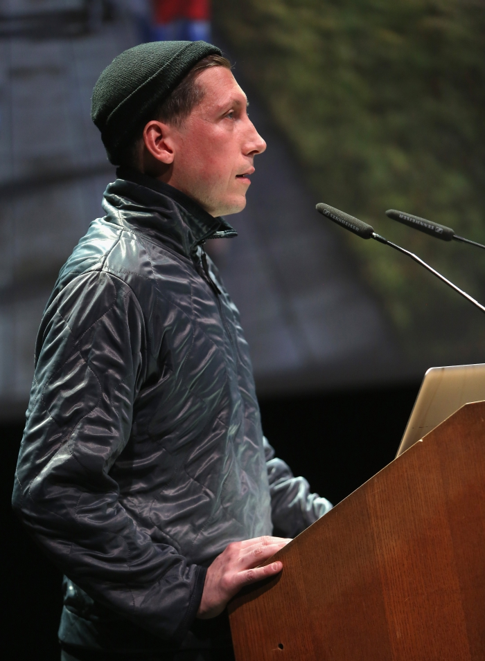 """Johannes Paul Raether at """"Strange Ecologies: From Necropolitics to Reproductive Revolutions"""", transmediale 2017"""