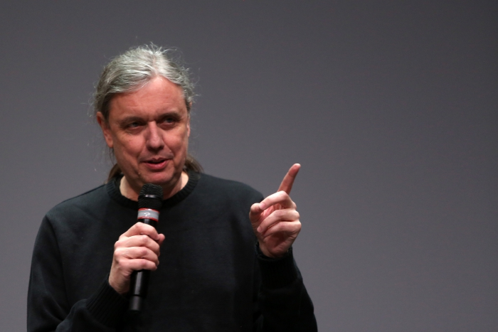 "Steve Kurtz at the Keynote Conversation ""Strange Ecologies: From Necropolitics to Reproductive Revolutions"", transmediale 2017"