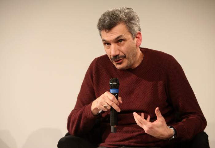 "Aristide Antonas at the panel ""Mediterranean Tomorrows"", transmediale 2017"