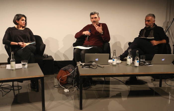 """Impression of the panel """"Mediterranean Tomorrows"""", transmediale 2017"""