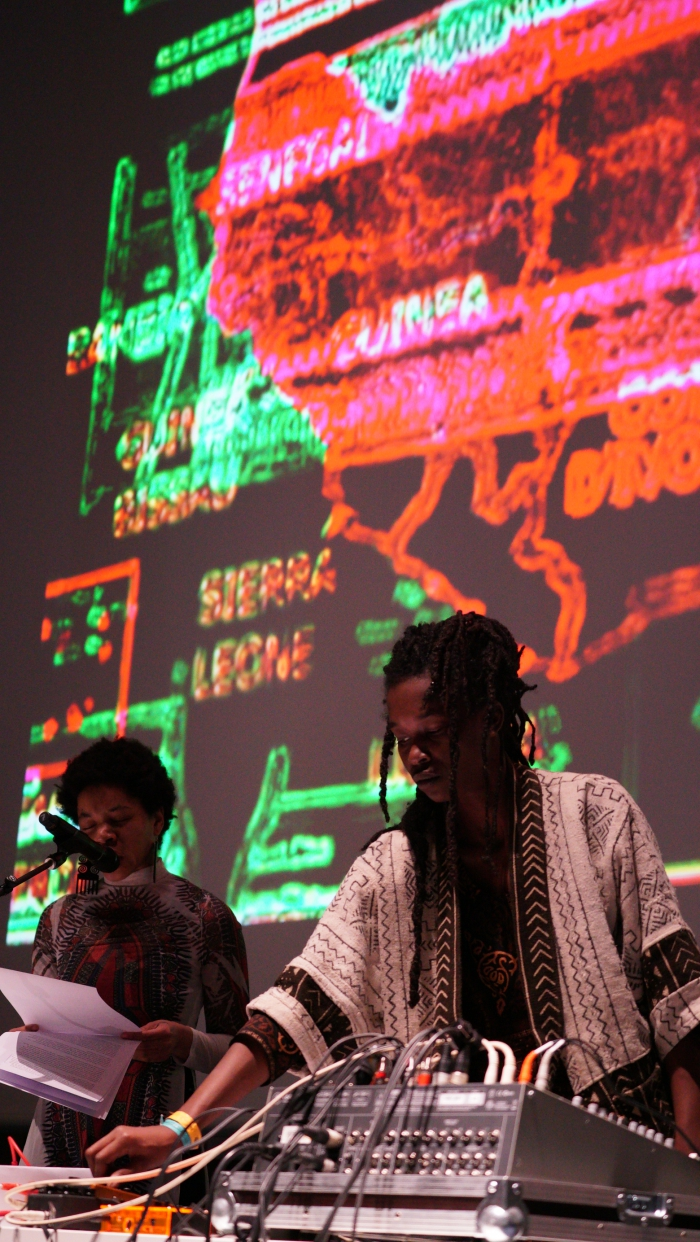 "Rasheedah Phillips & Moor Mother performing ""Ritual Causality 003"", transmediale 2017"