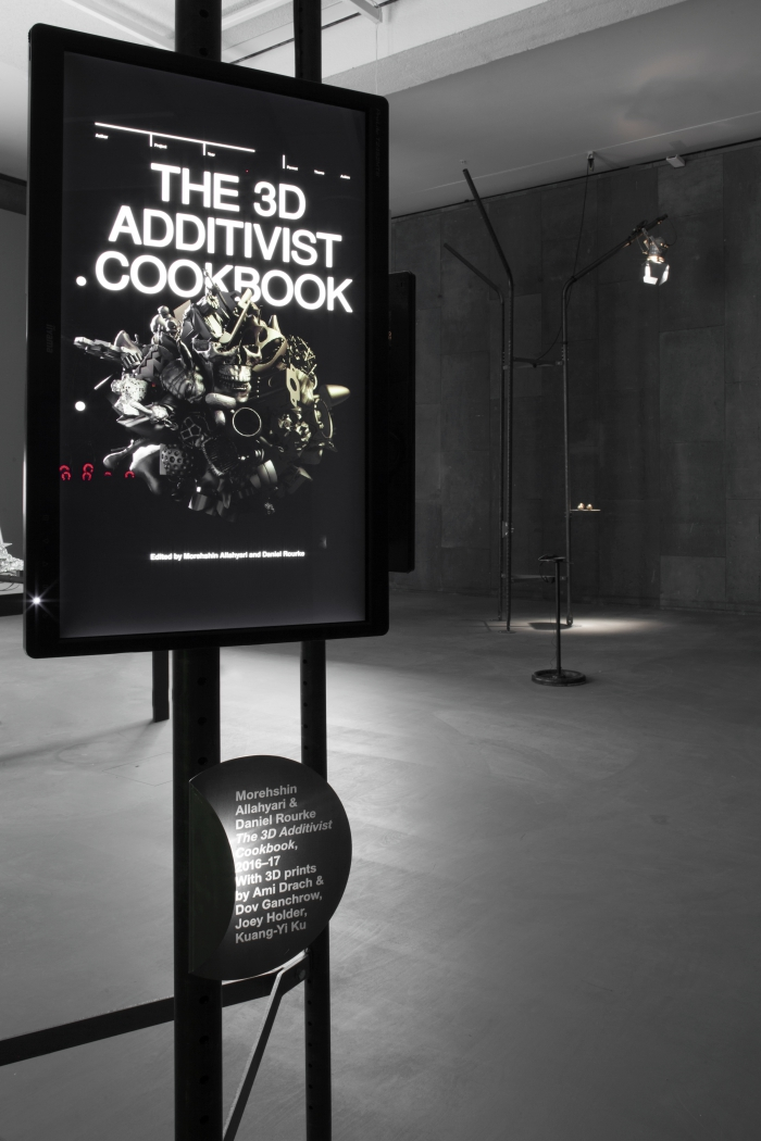 "The 3D Additivist Cookbook by Morehshin Allahyari and Daniel Rourke at the exhibition ""alien matter"", transmediale 2017."